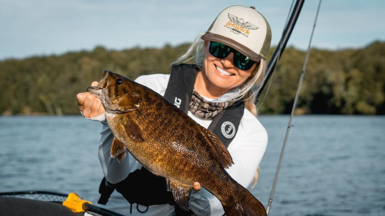 Kristine Fischer Features on Meateater's Official Fishing Series Das Boat